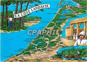 Moderne Karte La Cote Landaise Chasse