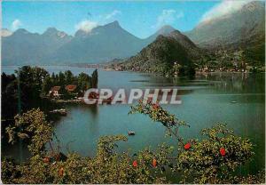 Moderne Karte Le Lac D'Annecy Le petit lac et le Massif des Beauges Talloires et Duingt