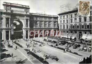 Moderne Karte Florence Place de la Republique