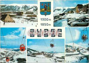 Moderne Karte Super Besse Sports d'hiver en Auvergne