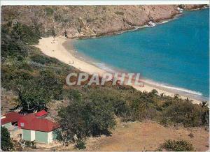 Moderne Karte Saint Barthelemy Antilles Francaise FWI Plage de Gouverneur