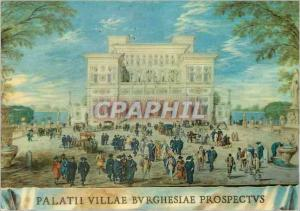 Moderne Karte Galleria Borghese Roma Bour vue de la villa borghese
