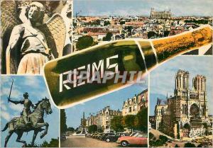 Moderne Karte En champagne reims (marne) l ange au sourire panorama jeanne d arc