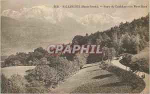 Ansichtskarte AK Sallanches Haute Savoie Route du Combloux et le Mont Blanc