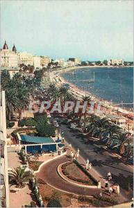 Moderne Karte La Cote d Azur Cannes La Promenade de la Croissette