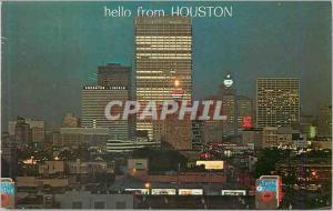 Moderne Karte Houston Texas Looking north at sundown