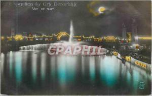 Moderne Karte Exposition des Arts Decoratifs Vue de Nuit Paris