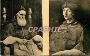 Moderne Karte Raphael Raffaello Santi ou Sanzio dit I Portrait du pape Jules II Florence Musee des Offices II