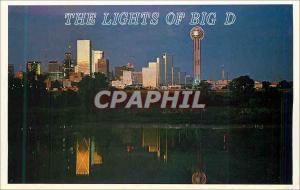 Moderne Karte Dallas after Dark Time of Your Life City