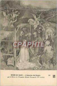 Ansichtskarte AK Dijon Musee de Dijon L'Adoration des Bergers par le Maitre de Flemalle (Ecole Flamande XVe siecl