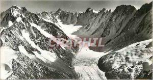 Moderne Karte Vocabulaire Geographique Le Glacier d'Argentiere (Massif du Mont Blanc)