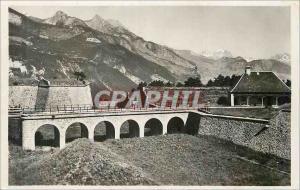 Moderne Karte Mont Dauphin (Htes Alpes) Les Remparts et Vue sur le Pelvoux