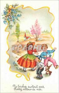 Moderne Karte Enfants Lapin
