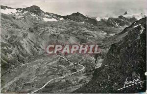 Moderne Karte Le Col de l'Iseran La plus haute route d'Europe Les Lacets de la route cote Tarentaise (Vue pris