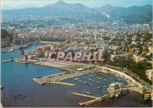 Moderne Karte Nice Vue aerienne Vue generale sur le Port La Cote d'Azur inoubliable