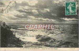 Ansichtskarte AK Les Cotes de la Manche Coup de Vent Sud Ouest