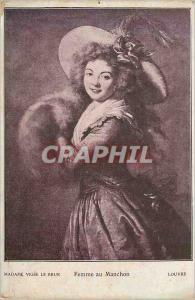Ansichtskarte AK Madame vigee le Brun Femme au Manchon Louvre