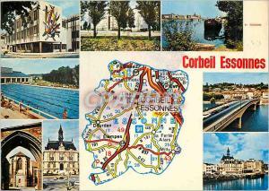 Moderne Karte Corbeil Essonnes (Essonne)
