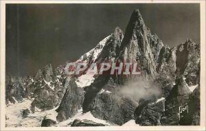 Ansichtskarte AK Chamonix (Hte Savoie) L'Aiguille du Dru (3754 m)