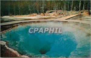 Moderne Karte Yellowstone National Park Morning Glory Pool