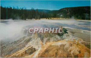 Moderne Karte Yellowstone National Park Wyoming Punch Bowl Spring