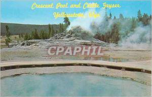 Moderne Karte Crescent Pool and Castle Geyser Yellowstone Wayo