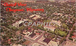 Moderne Karte Aerial View Wyoming State Capitol Cheyenne Wyoming