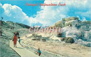 Moderne Karte Colorful Yellowstone Park Mammoth Hot Springs Terrace