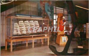 Moderne Karte Maritime Museum San Francisco In Grlass Case Model of Preussen Bateau