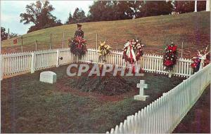 Moderne Karte Grave of John F Kennedy the 35th President of the United States from Arlington National Cemetery