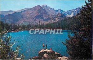 Moderne Karte Rocky Mountain National Park Colorado Bear Lake and Long's Peak