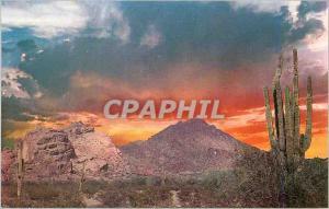 Moderne Karte Valley of the Sun Surrounding Phoenix Spectacular Sunrise Over Camelback Mountain