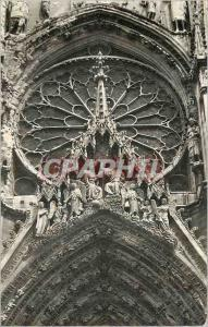Moderne Karte Cathedrale de Reims Le Couronnement de la Vierge et la Grande Rosace