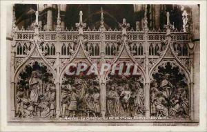 Moderne Karte Amiens la cathedrale la vie de st jean baptiste(bas relief)