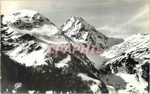 Moderne Karte Les pyrenees le pic du midi de bigorre en hiver (alt 2886 m)