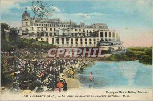 Ansichtskarte AK Biarritz (b p) le casino de bellevue au coucher du soleil