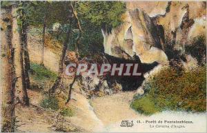 Ansichtskarte AK Foret de Fontainebleau La Caverne d'Augas