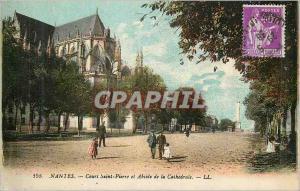Ansichtskarte AK Nantes Cours Saint Pierre et l'Abside de la Cathedrale