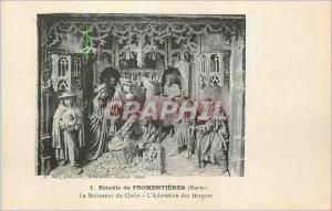 Ansichtskarte AK Retable de Fromentieres Marne La Naissance du Christ L Adoration des Bergers