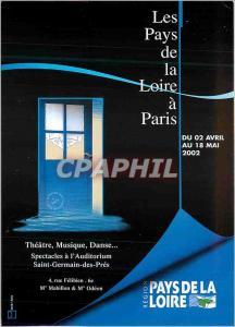Moderne Karte Les Pays de la Loire a Paris du 02 Avril au 18 Mai 2002 Theatre Musique Danse