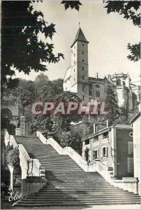 Moderne Karte Auch Gers L Escalier Monumental et la Tour d Armagnac