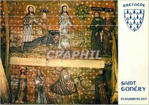 Moderne Karte Plougrescant (C du N) La Bretagne en Couleurs La Naissance d'Eve qui sort des Cotes d'Adam dans