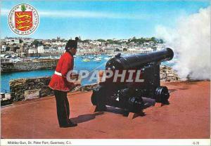 Moderne Karte Guernsey CI Midday Gun St Peter Port  Militaria