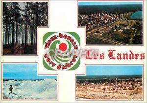 Moderne Karte La France Vieux Boucau Les Landes Touristiques La Cote d'Argent  Port d'Albert Vues Generales Ae