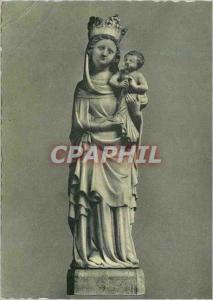 Moderne Karte Abbaye de Saint Benoit de Fleury (Loiret) Statue de Notre Dame de Fleury