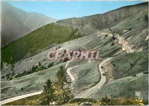 Moderne Karte Route du Col d'Allos (B A) 2250 m Descente sur Barcelonnette