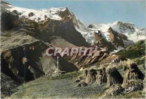 Moderne Karte La Grave (Hautes Alpes) Les Belles Alpes Francaises Meije (3983 m) et le Rateau (3809 m)