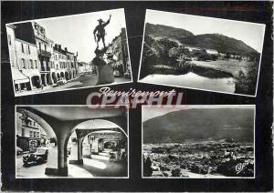 Moderne Karte Remiremont (Vosges) La Grande Rue La Moselle Les Arcades Vue Generale