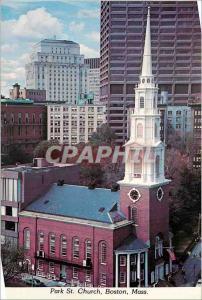 Moderne Karte Park St Church Boston Mass