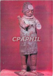 Moderne Karte Statuette Jebba (Haut Niger) Bronze Hauteur 92 m Le Dagacin Chef de Jebba